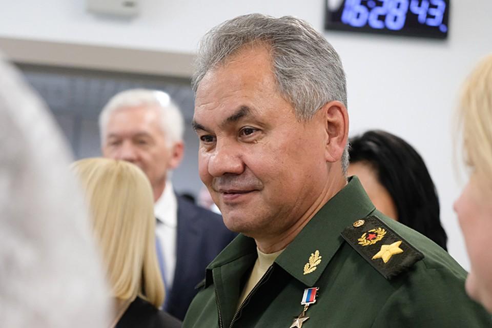 С самого утра здесь ждали министра обороны Сергей Шойгу