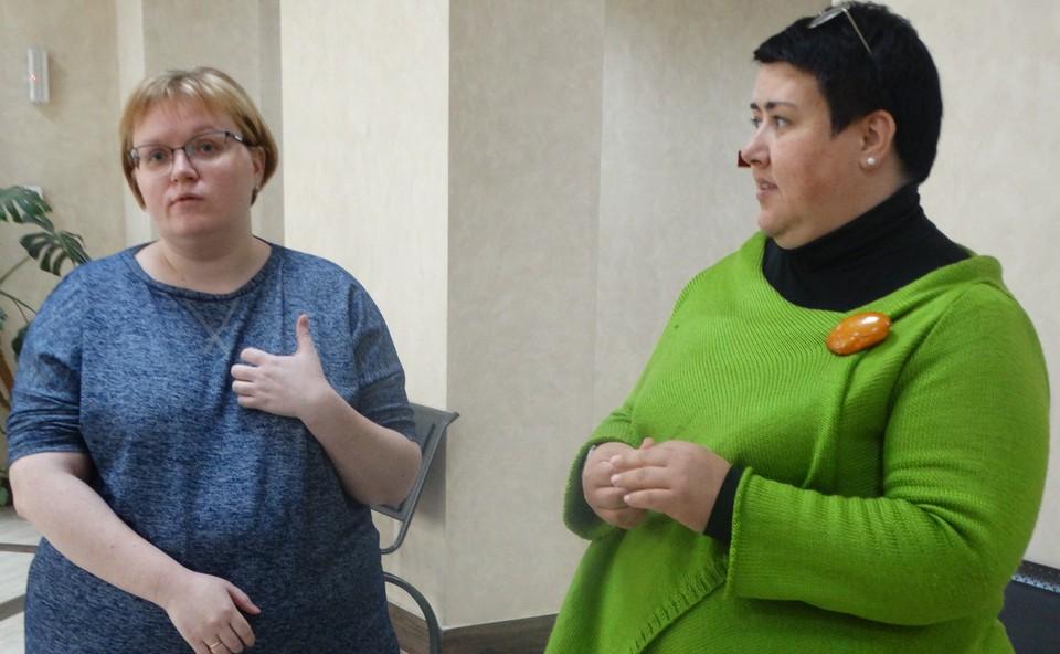 Жанна Деменкова (слева) и Инга Красикова (справа)