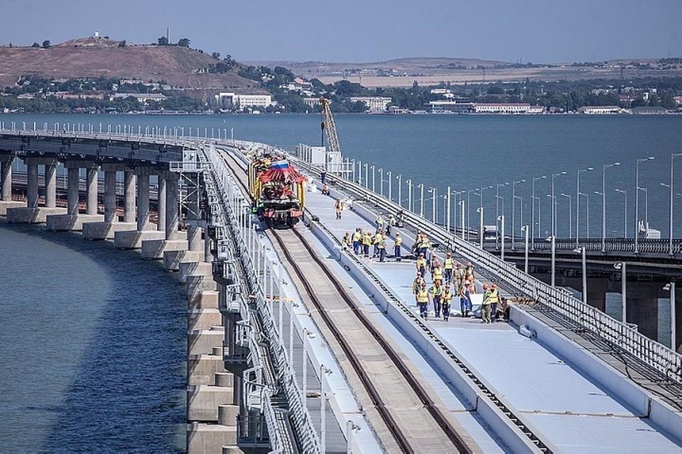 Этот вагон постоянно курсирует между Крымом и Таманью. Фото: инфоцентр «Крымский мост»