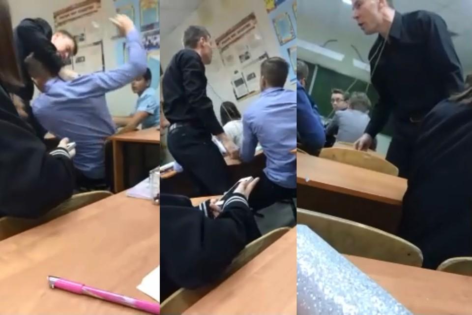 Под Тюменью молодого педагога отстранили за неподобающее поведение по отношению к ученикам. Фото: кадры извидео