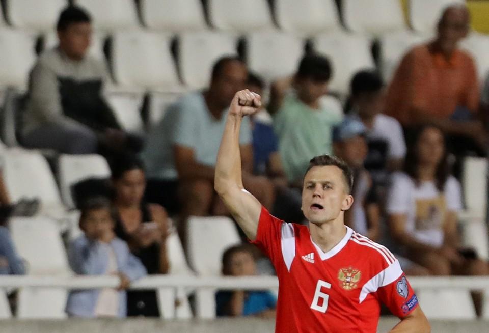 Денис Черышев положил начало победе наших на Кипре.