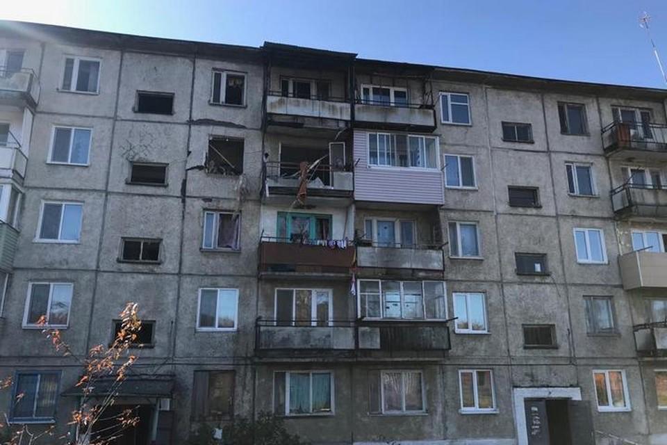 Особенно сильно пострадали четыре квартиры