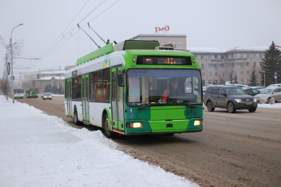 Новые троллейбусы соединят центр Красноярска с самыми отдаленными районами