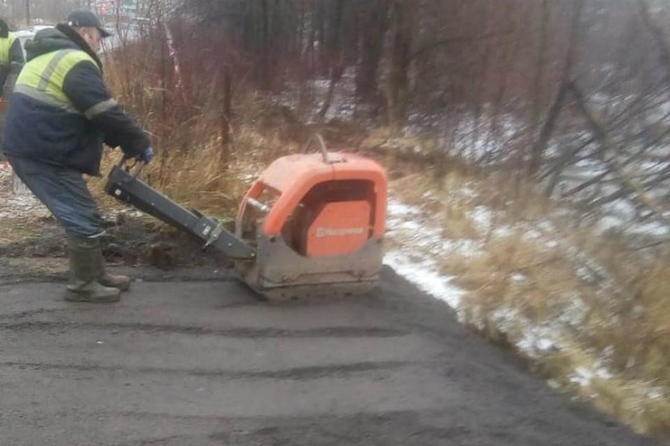 Обочина на Луганской уже почти готова. Фото: администрация города Кирова