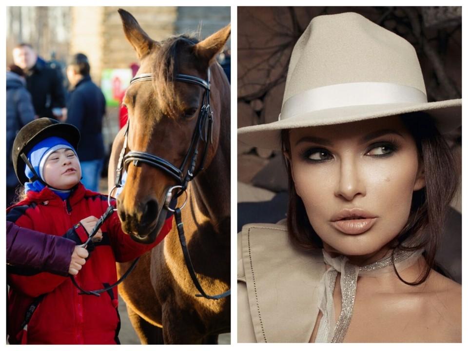 """Эвелина Бледанс рассказала в Instagrame, что """"солнечная девочка"""" Ульяна из Челябинска варит мыло, поет и занимается конным спортом. Фотоколлаж."""
