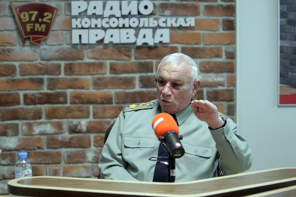 Генерал армии Анатолий Куликов в эфире Радио «Комсомольская правда».