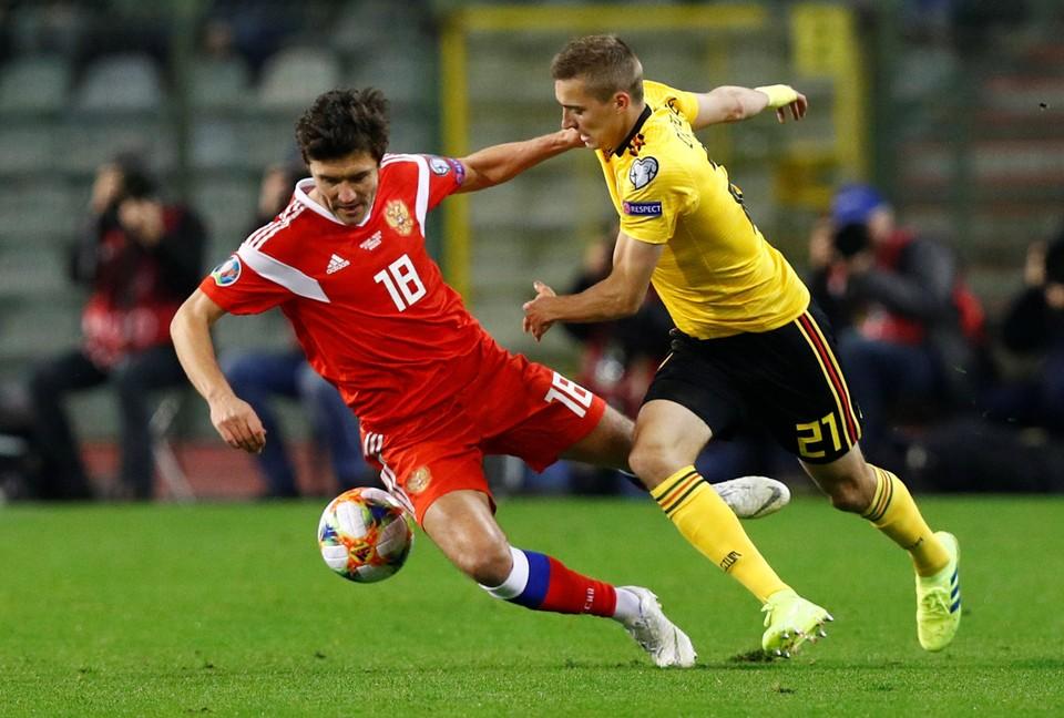 Бельгия и Россия играли в марте и тогда бельгийцы победили 3:1.