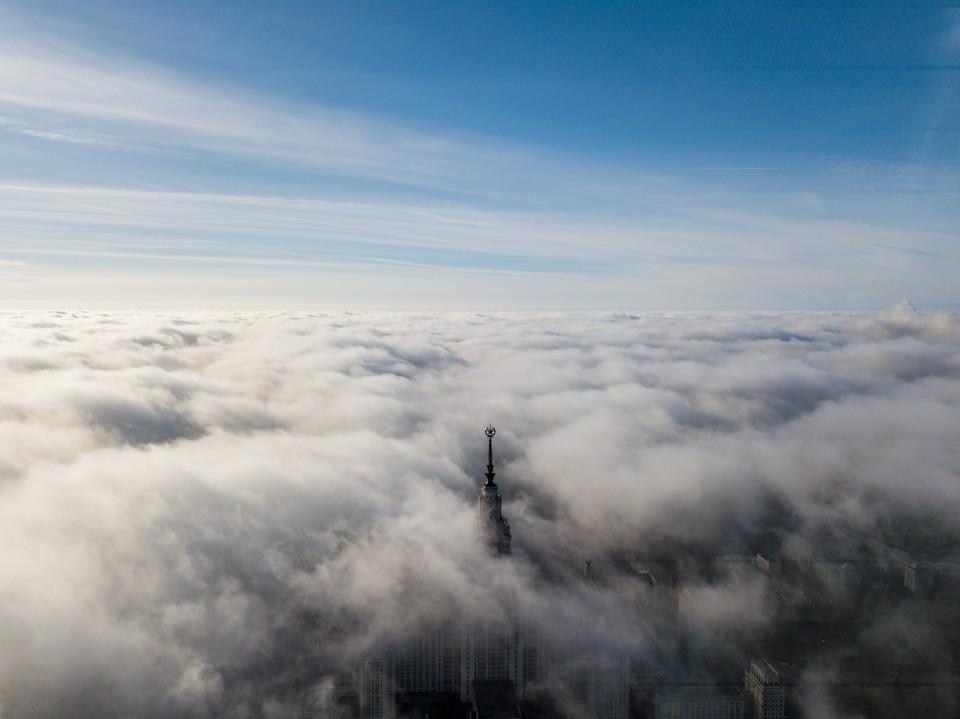 Столицу и область накрыл необыкновенно густой туман