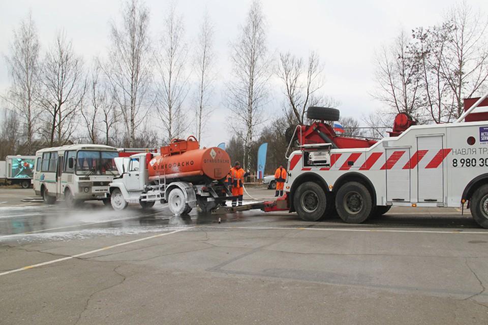 Учения прошли на дороге А-240 «Брянск-Новозыбков» — граница с Республикой Беларусь.