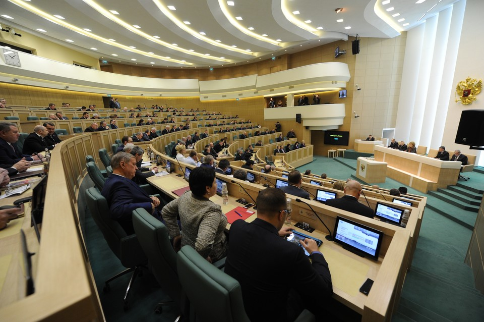 Пленарное заседание Совета Федерации.