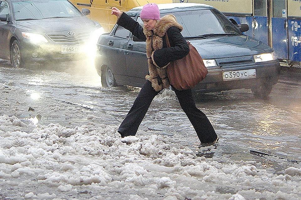Снежное месиво под ногами придется потерпеть еще пару дней, потом снег растает.