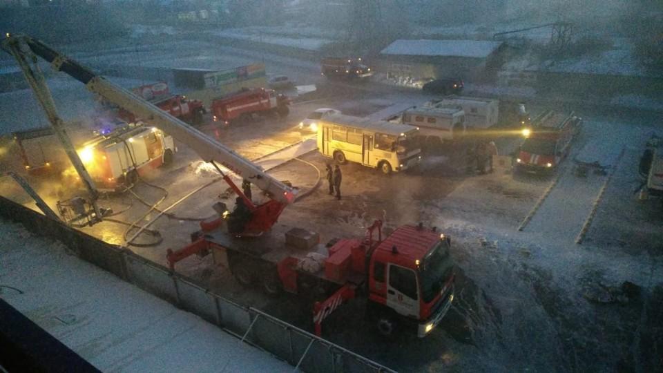 Возгорание зафиксировали около полуночи. Фото: ГУ МЧС по ЕАО