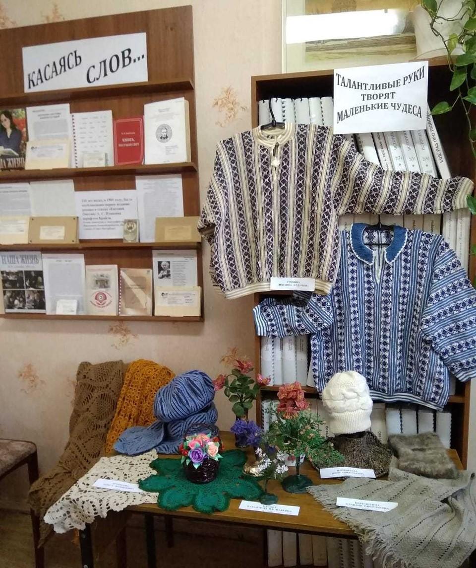 В Орле открылась выставка вещей ручной работы, сделанных слепыми. Фото: Орловская областная библиотека для слепых