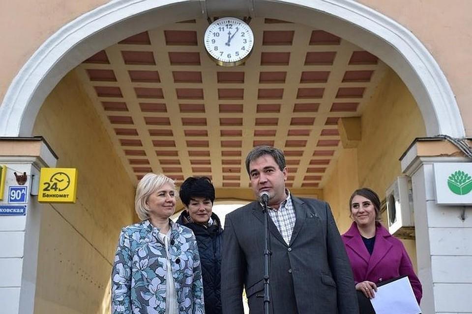 Торжественное открытие часов во Владимире. Фото: официальный сайт органов местного самоуправления города Владимира