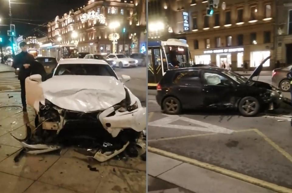 По предварительным данным, в ДТП на Невском проспекте никто не пострадал.