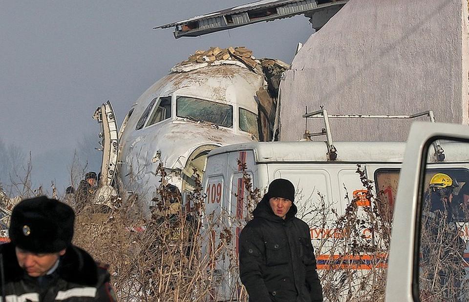 На месте аварийной падения «Фоккера» под Алма-Атой.