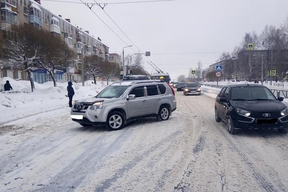 Место ДТП. Фото: ГИБДД по Березниковскому округу