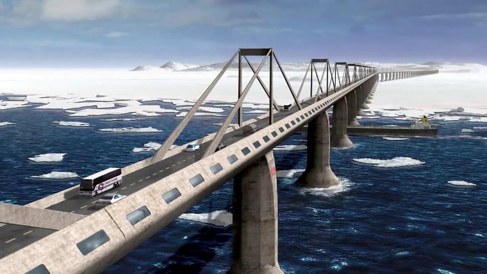 Проект моста на Сахалин. Визуализация. Фото: соцсети