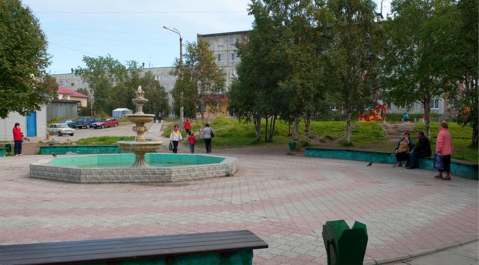 Фонтан, город Кандалакша, Мурманская область. Фотобанк Лори