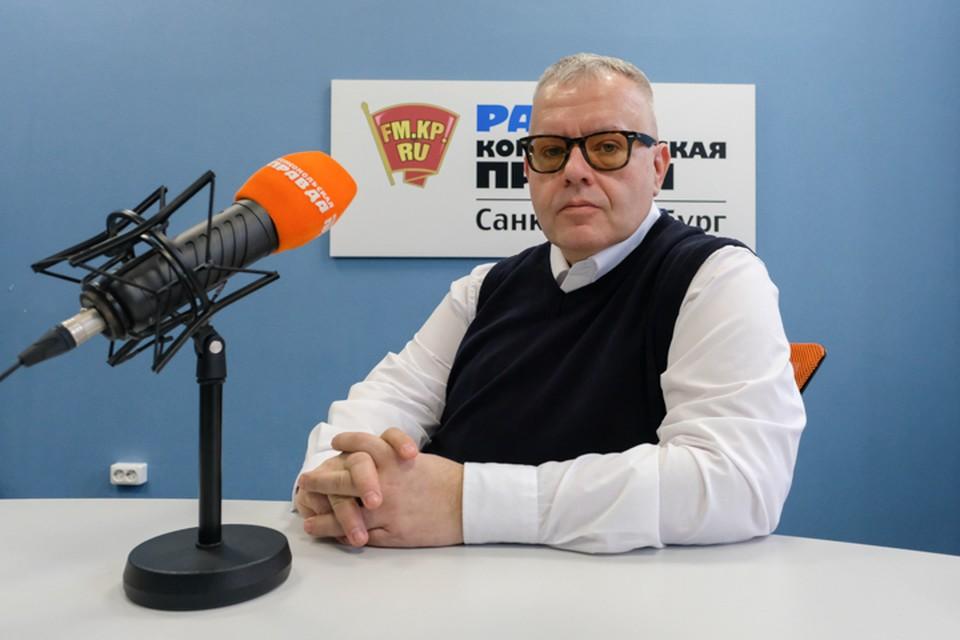 Алексей Блинов в студии радио «Комсомольская Правда в Петербурге», 92.0 FM