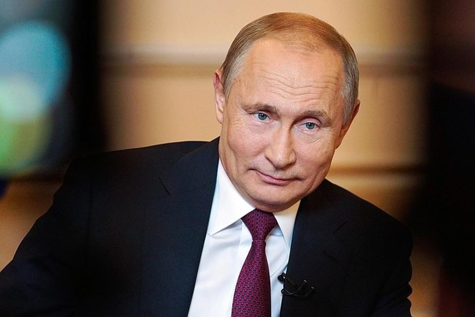 Президент Владимир Путин во время интервью ТАСС. Фото: Алексей Дружинин/ТАСС