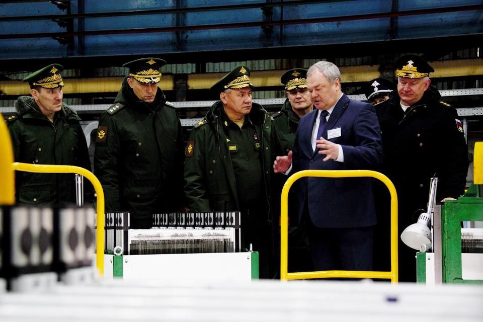 Руководство предприятия доложили главе военного ведомства об увеличении технологических возможностей производства и перспективных проектах