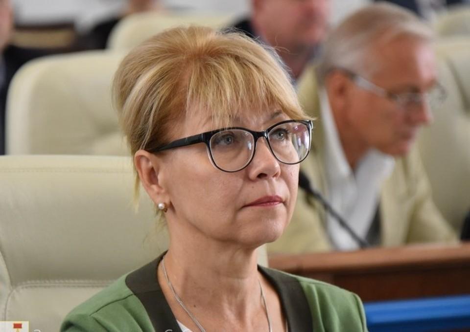 Инга Матяж, главный врач инфекционной больницы Фото: Заксобрание города Севастополя