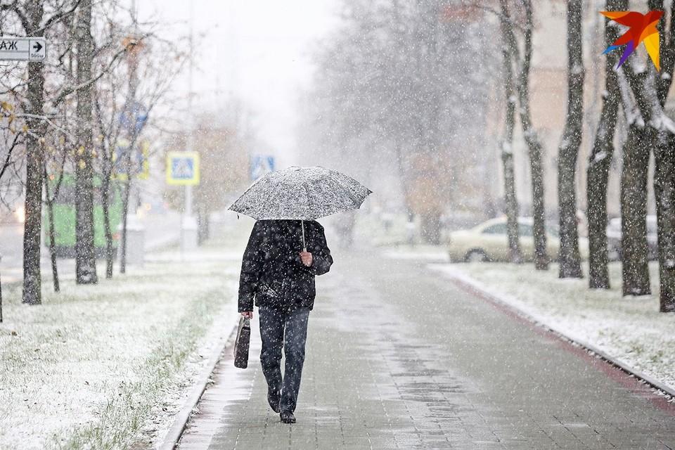 К выходным в Беларусь придет циклон со снегом.