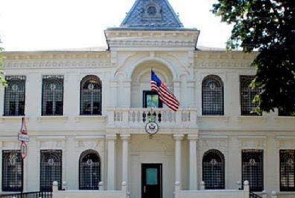 Посольство США в Кишиневе опустело. Фото: соцсети