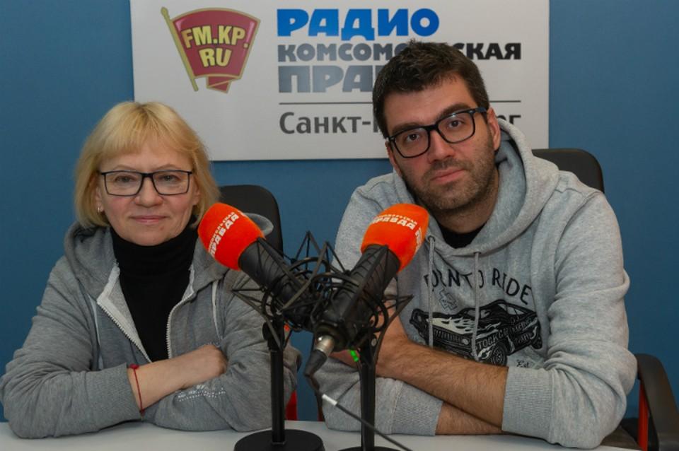 Татьяна Визбор и Павел Гарасько в студии радио «Комсомольская Правда в Петербурге», 92.0 FM