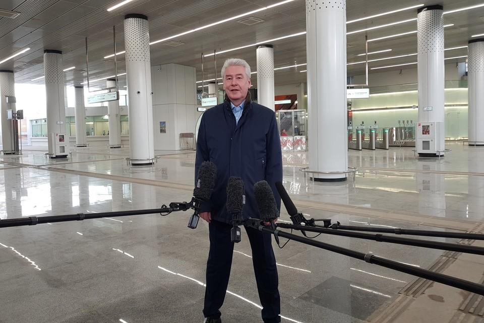 На официальный запуск приехал мэр Москвы Сергей Собянин.