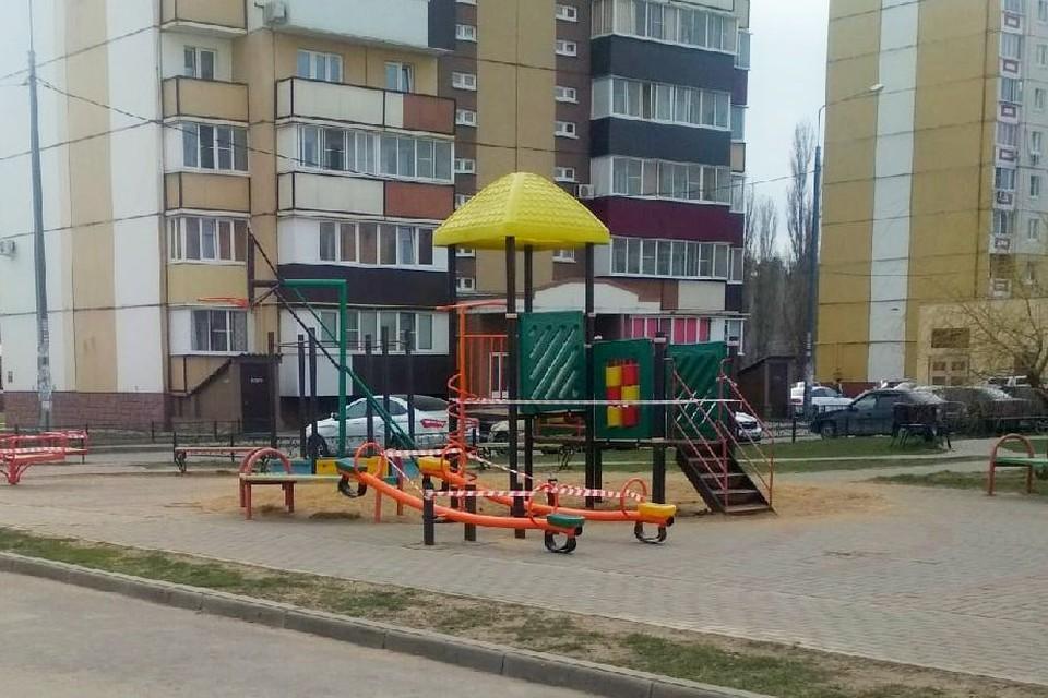 В Липецке закрыли детские площадки из-за коронавируса