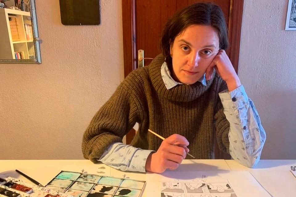 Варвара на изоляции из-за коронавируса стала рисовать карикатуры на злободневную тему.