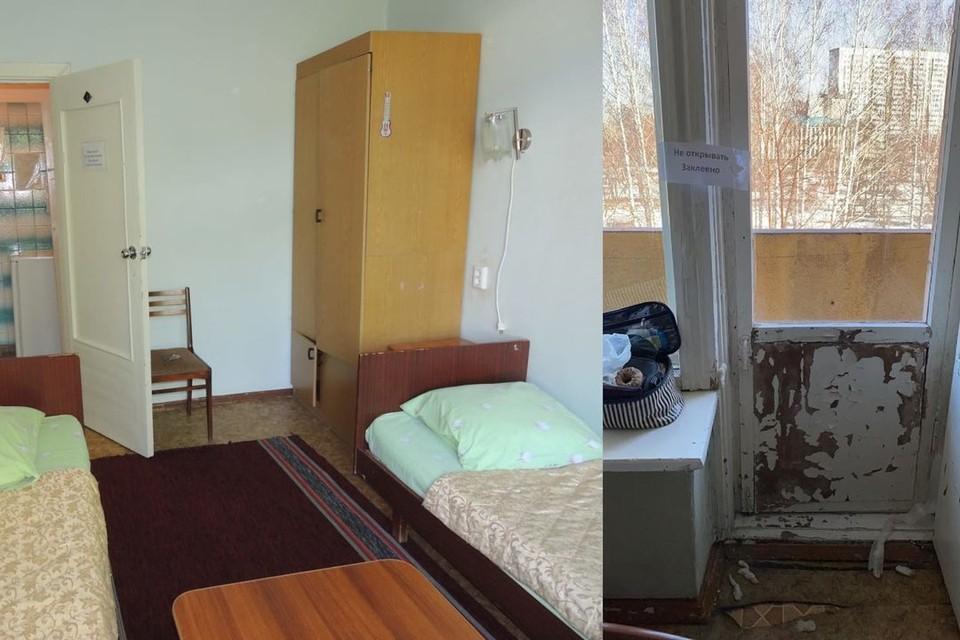 Двери у балкона опечатаны. Фото:личный архив/ мэрия Новосибирска.