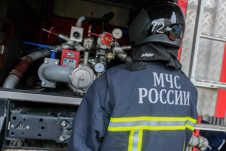 В Петро-Славянке пожарные тушили ангар с углем.