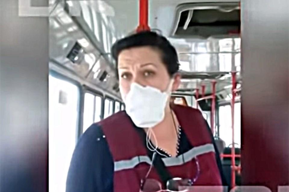 Кондуктор междугороднего автобуса №119 «Железногорск – Сосновоборск». Фото: ТВК