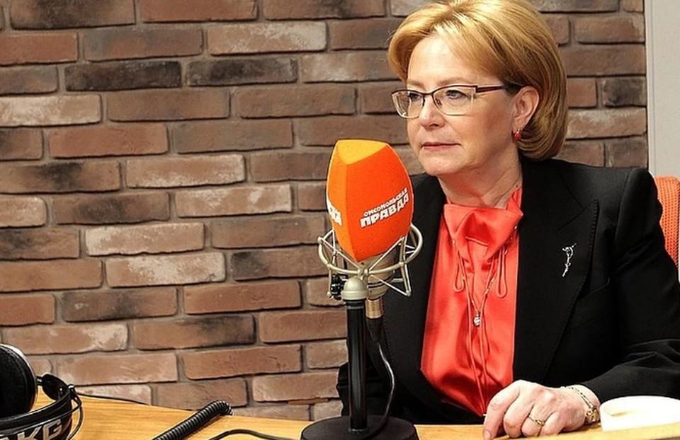 Скворцова сообщила, что Россия идет по благоприятному сценарии развития коронавируса
