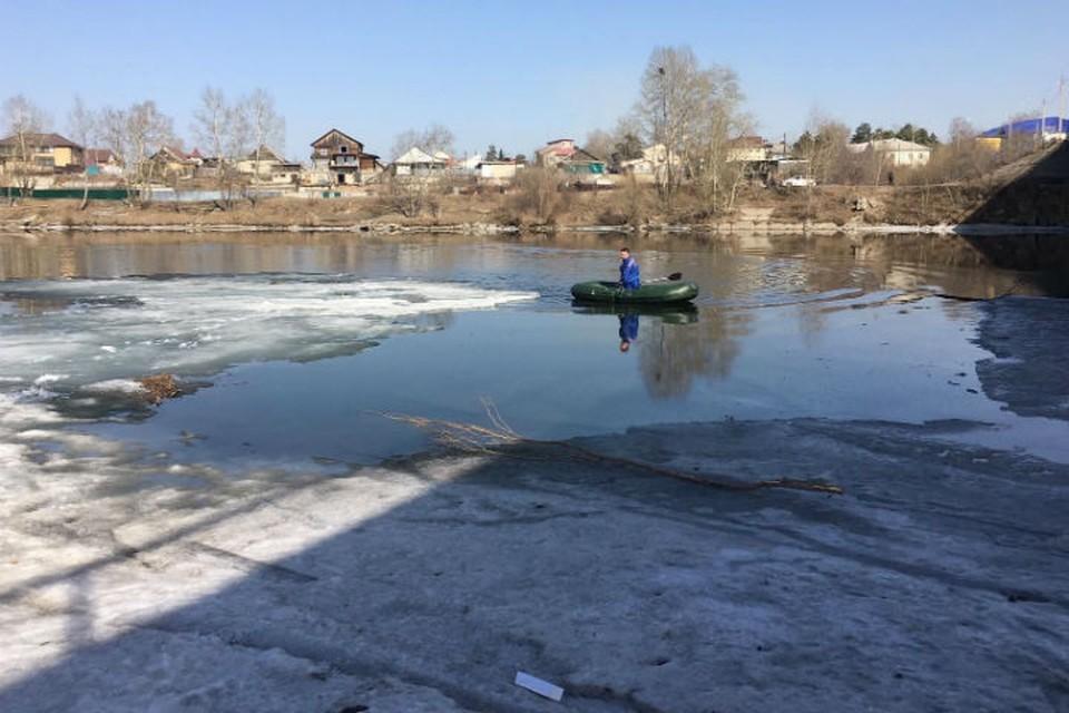 8-летняя девочка и пытавшийся ее спасти мужчина, утонули на реке Китой в Ангарске. Фото: ГУ МЧС России по Иркутской области