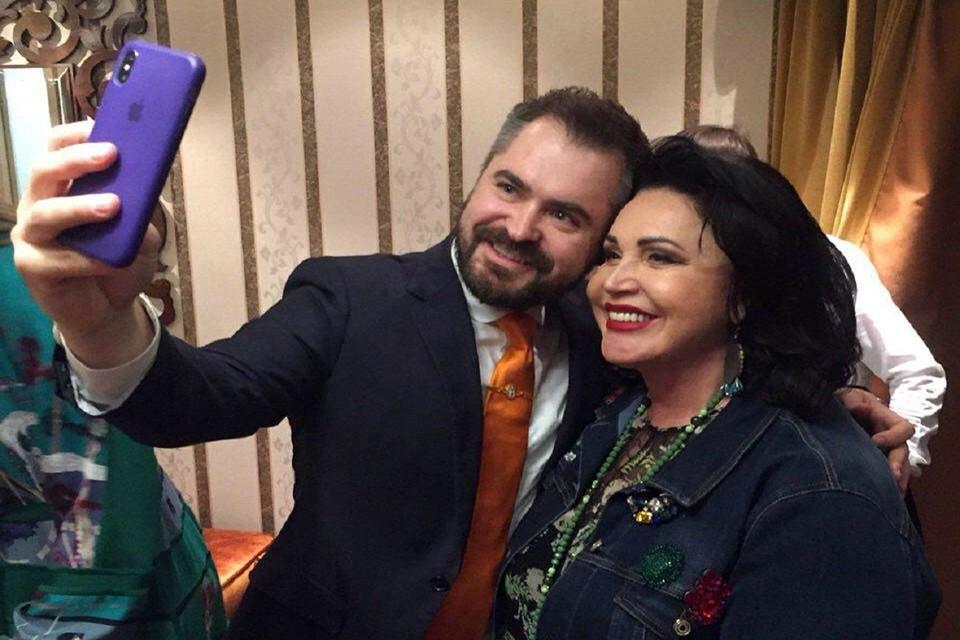 Надежда Бабкина с гражданским мужем Евгением Гором