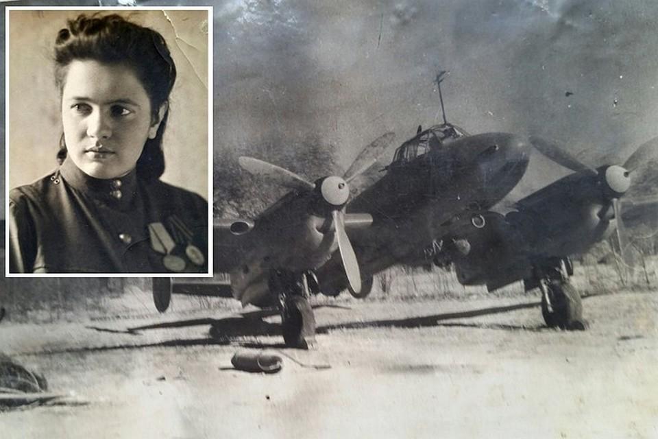 Ираида Плетнева ушла на фронт в 18 лет и служила в авиационных полках. А так выглядел бомбардировочный самолет. Рядом на земле лежит бомба для подвески к нему. Фото: личный архив.