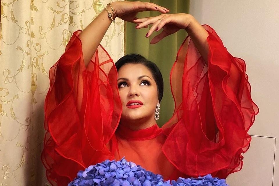 Анна Нетребко из-за коронавируса лишена возможности выступать на сцене. Фото: Инстаграм.