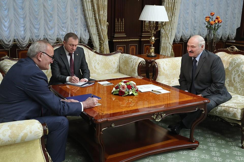 Президент Беларуси принял посла Сербии. Фото: БелТА