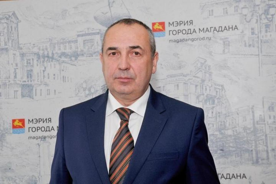 На снимке сам мэр - Юрий Гришан. Фото: Пресс-служба мэрии Магадана.