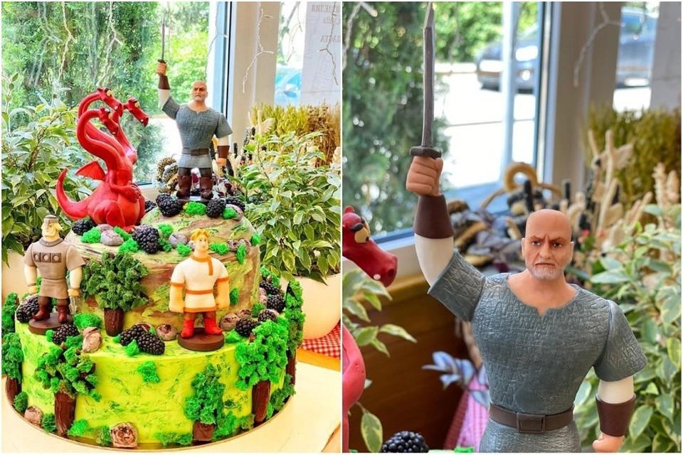 Торт получился на славу - красивый и яркий. Фото: Ирина Романец/FB