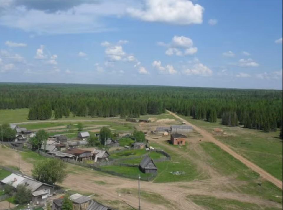 Поселок Лель в Гайнском районе окружен лесами и болотами.