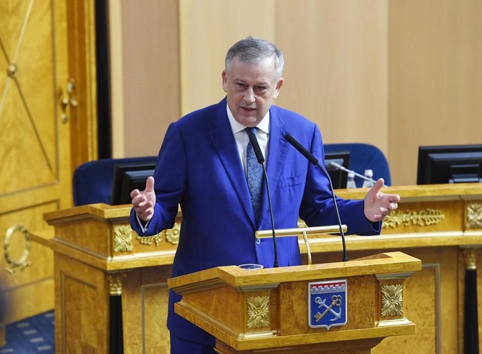 Губернатор Александр Дрозденко выступил с ежегодным отчетом перед Законодательным собранием. Фото предоставлено пресс-службой правительства Ленобласти.