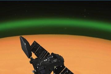 Красную планету окружило зеленое свечение