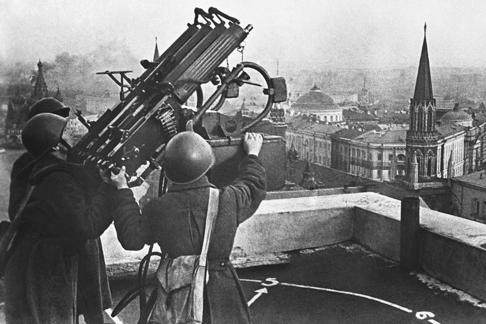 Бомбардировки Москвы начались в конце июля 1941 года.