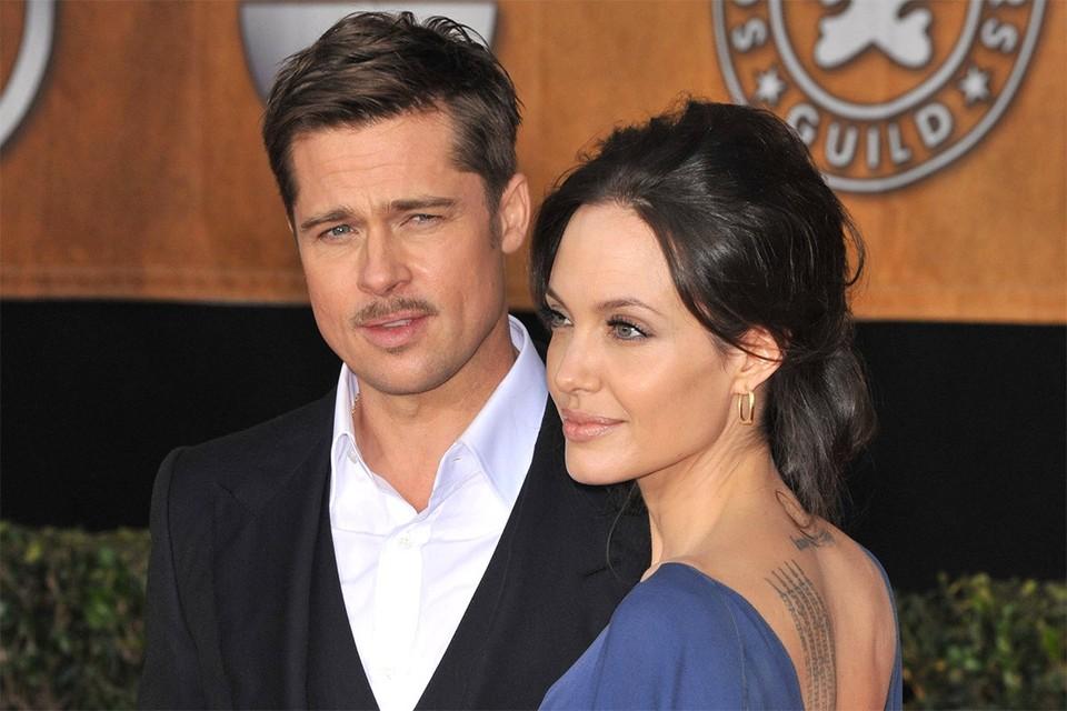 Брэд Питт и Анджелина Джоли в 2009 году.