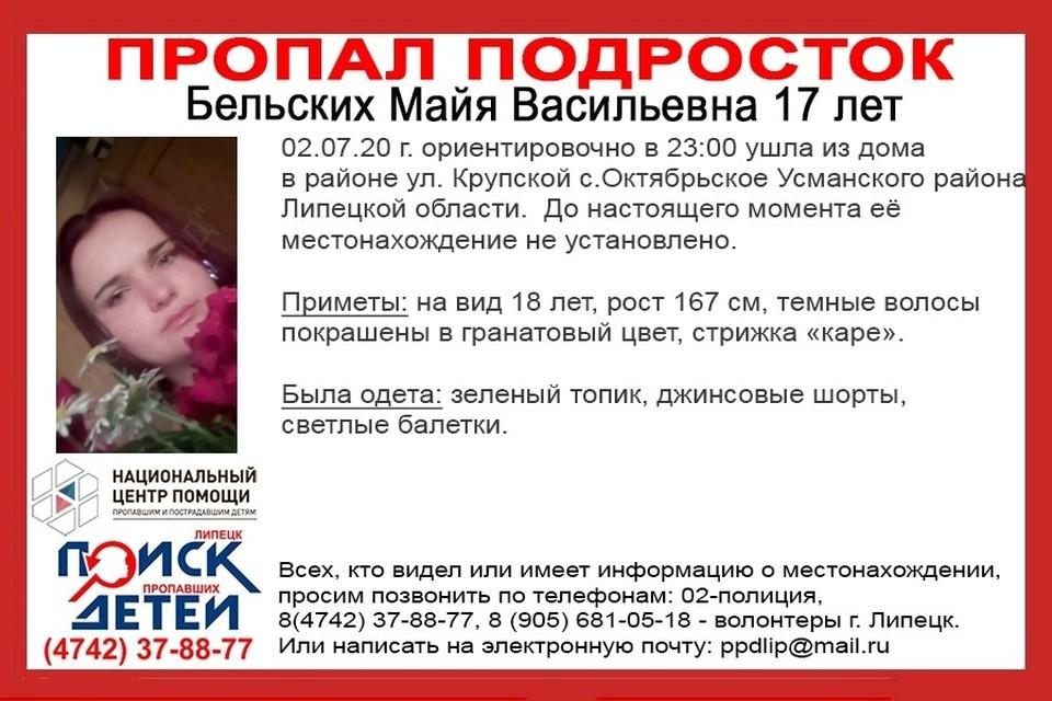 В Липецкой области пропал подросток
